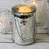 Hanging Candle Holder in Silver 10.5cm - Wedding Boutique