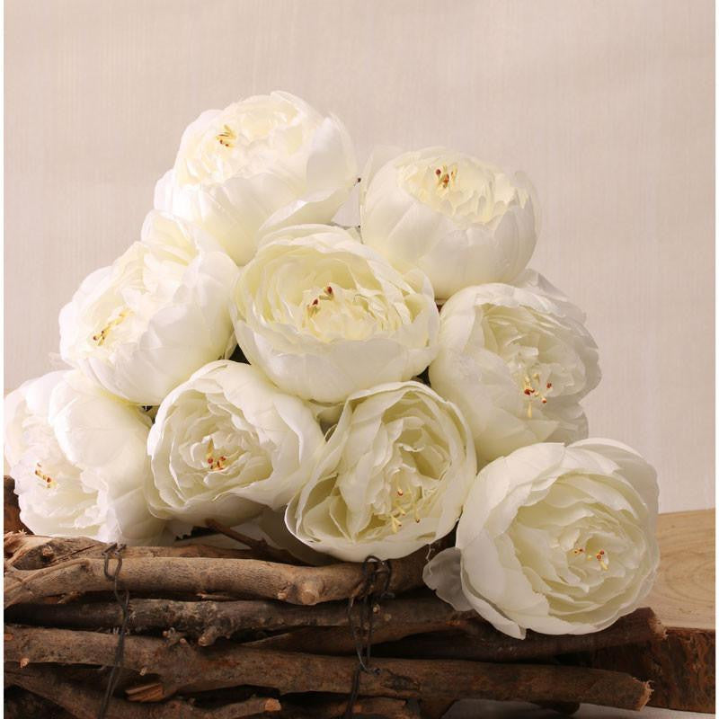 White Peony Bunch x9 - Wedding Boutique