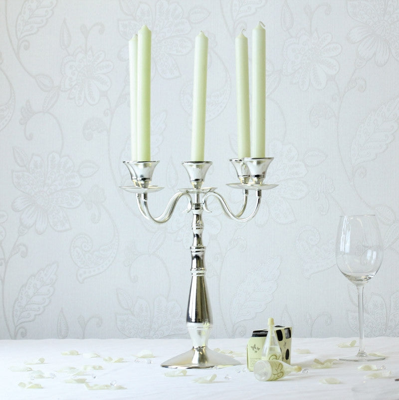 Silver Candelabra 34cm - Wedding Boutique