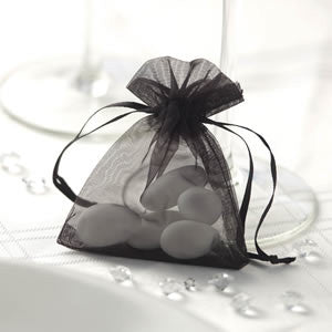 Candy Bags in Silver & White