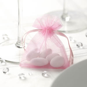 Organza Favour Bags in Silver