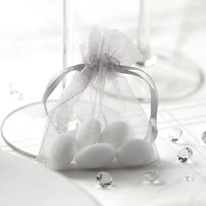 Organza Favour Bags in Silver - Wedding Boutique