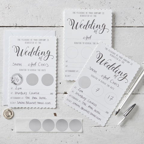 Kraft Wedding Evening Invitations