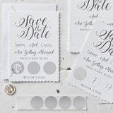 Scratch & Reveal Save The Dates - Wedding Boutique