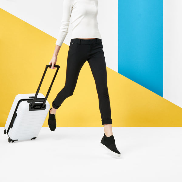 Leaping with Suitcase
