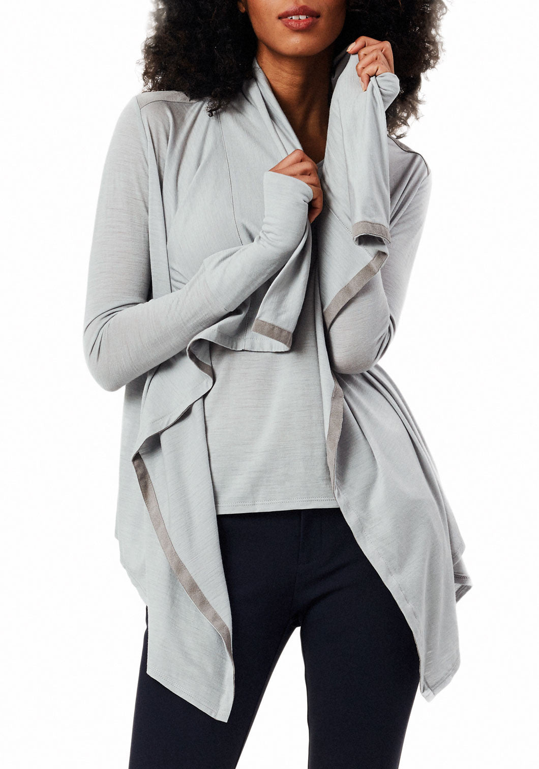 24/7 Pants Midnight Navy & Good-to-Go Cardi Mist Grey Combo Pack