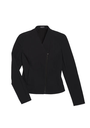 Tailored jacket in jet black