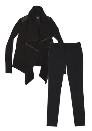 24/7 Pants Jet Black & Good-to-Go Cardi Jet Black Combo Pack