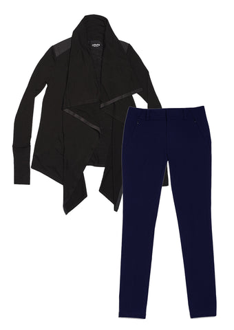 24/7 Pants Midnight Navy & Good-to-Go Cardi Jet Black Combo Pack