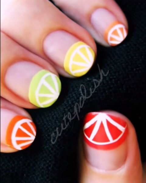 Thumbsup nails blogposts this design by cute polish is called citrus squeeze and represents various citric fruits in the design you can pick one fruit if you like prinsesfo Gallery