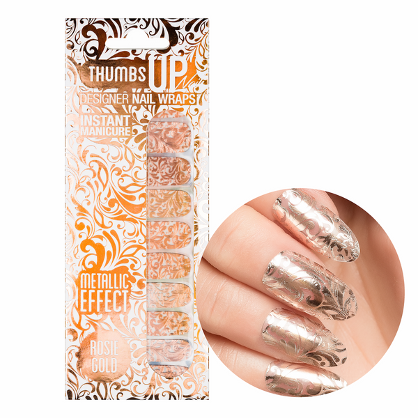 Rosie Gold Metallic Nail Wraps