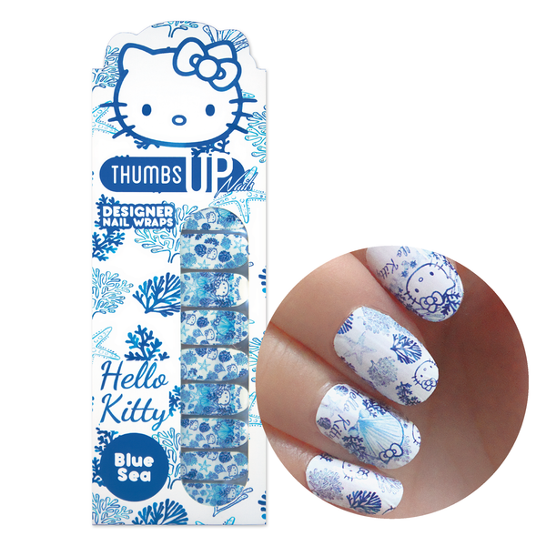 Hello Kitty Special Edition Blue Sea Nail Wraps