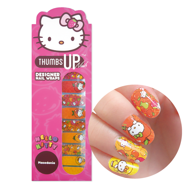 Hello Kitty Special Edition Macedonia Nail Wraps