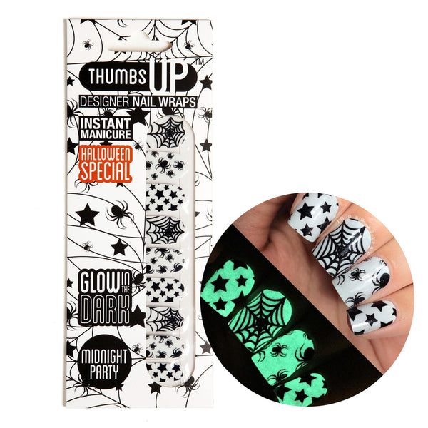 Glow In The Dark - Midnight Party Nail Wraps
