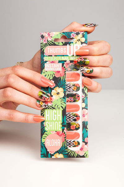 High Shine Effect - Aloha Nail Wraps