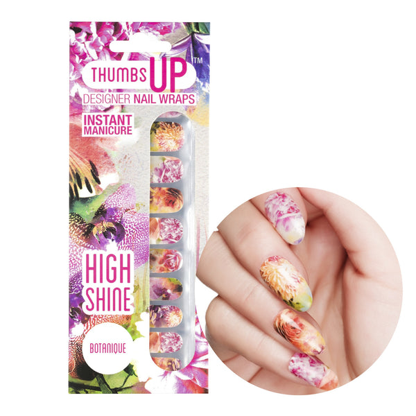 High Shine Effect - Botanique Nail Wraps