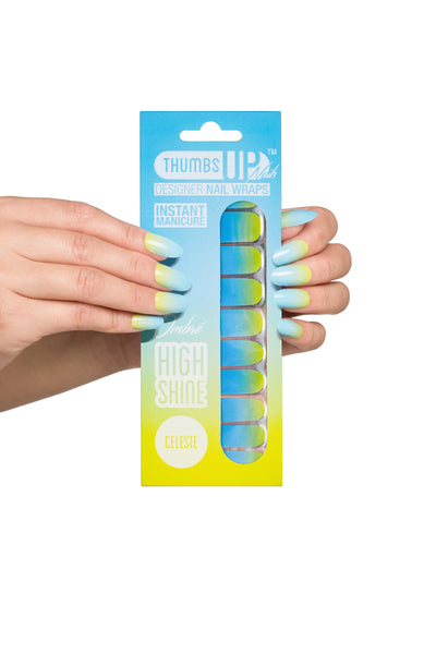 High Shine Effect - Celeste Ombre Nail Wraps