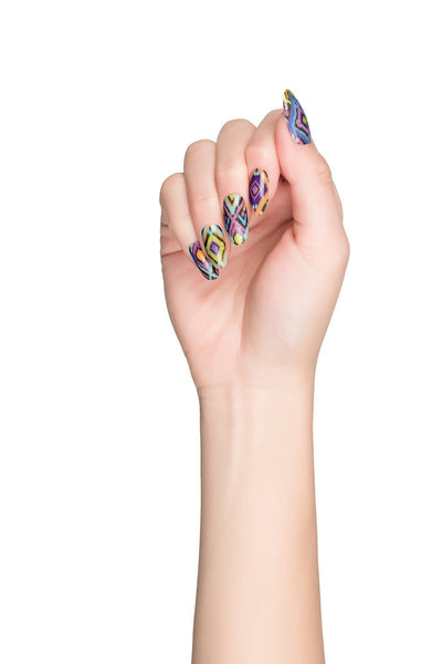 High Shine Effect - Ikat Nail Wraps