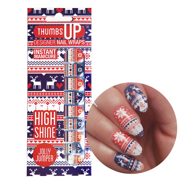 High Shine Effect - Jolly Jumper Nail Wraps