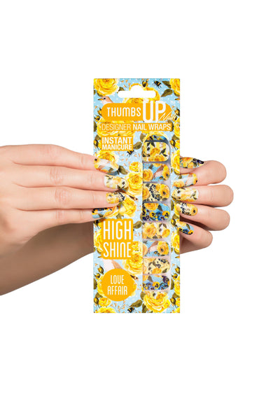 High Shine Effect - Love Affair Floral Nail Wraps