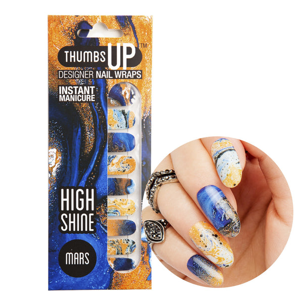 High Shine Effect - Mars Nail Wraps