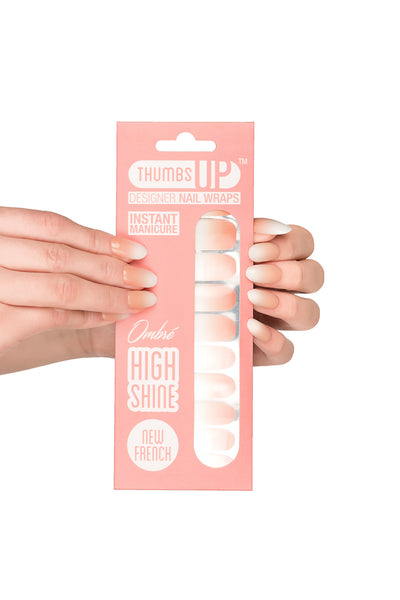 High Shine Effect - New French Nail Wraps