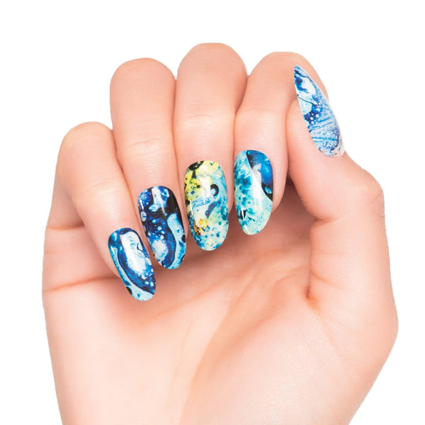 High Shine Effect - Ocean Colour Nail Wraps
