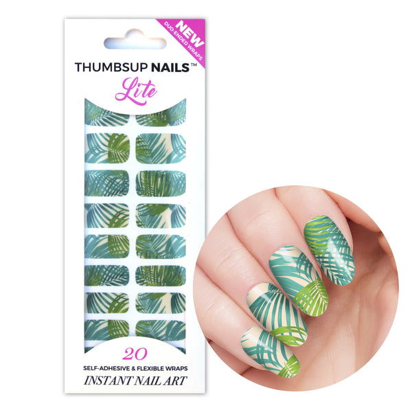 High Shine Effect - Palm Tree Nail Wraps