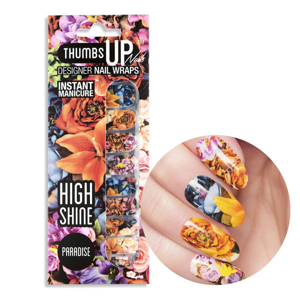 High Shine Effect - Paradise Nail Wraps