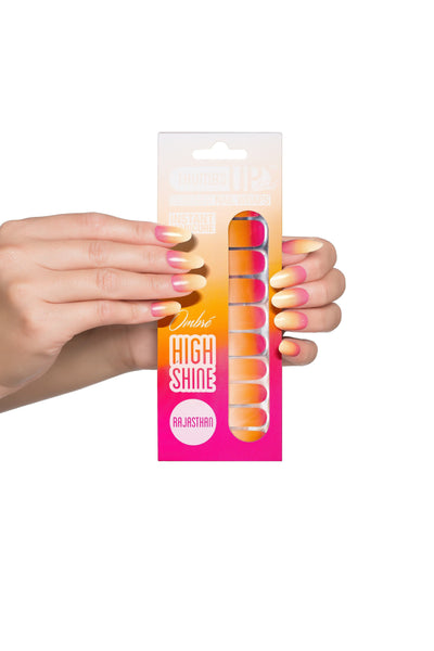High Shine Effect - Rajasthan Ombre Nail Wraps