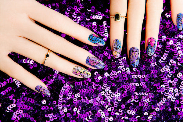 High Shine Effect - Razzle Dazzle Nail Wraps