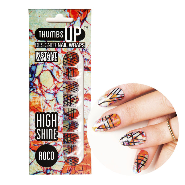 High Shine Effect - Roco Nail Wraps