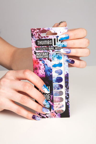 High Shine Effect - Rorschach Nail Wraps