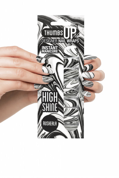 High Shine Effect - Ruskeala Nail Wraps
