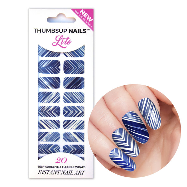 High Shine Effect - Shibori Nail Wraps