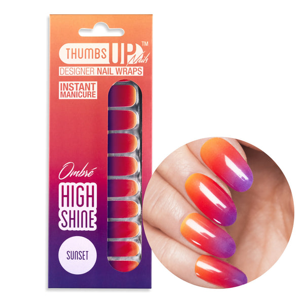 High Shine Effect - Sunset Nail Wraps
