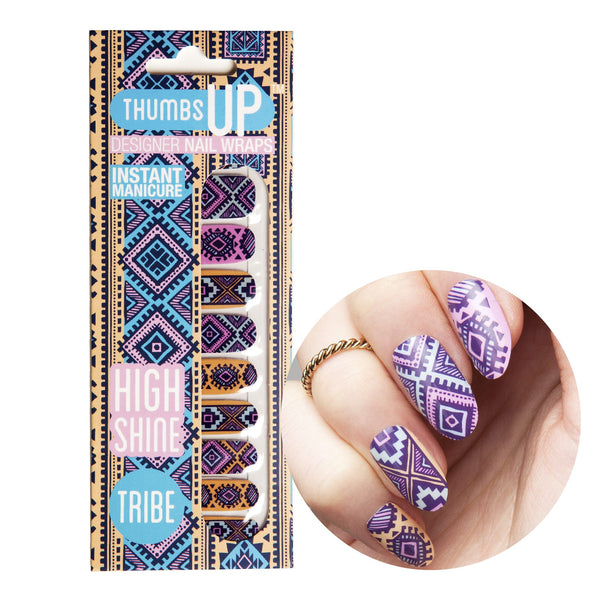 High Shine Effect - Tribe Nail Wraps