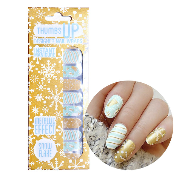Metallic - Snow Flakes Nail Wraps