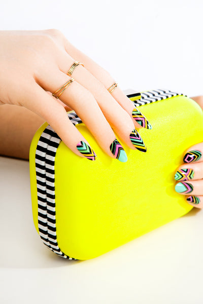 Multi-pack - Neon Geo Nail Wraps Pack