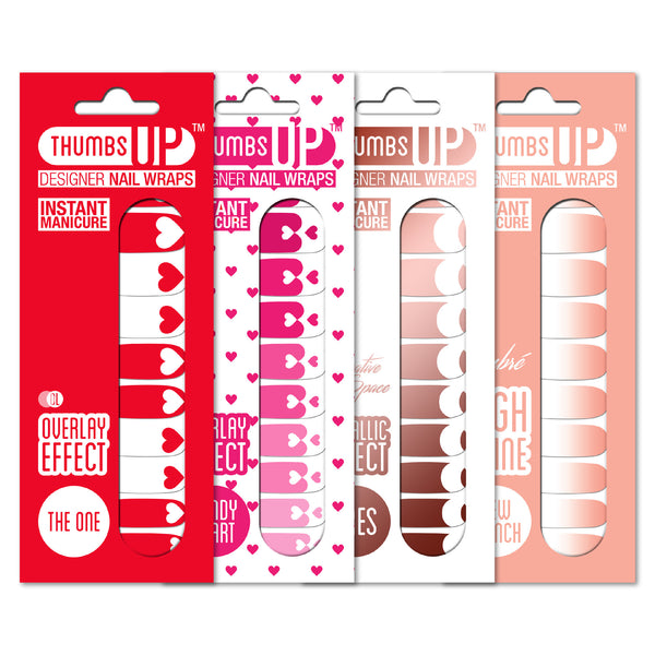 Multi-pack - Romance Collection Nail Wraps Pack