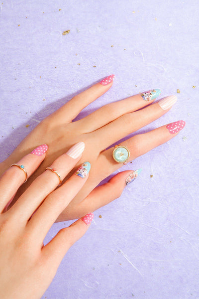 Multi-pack - Romantic Garden Nail Wraps Pack