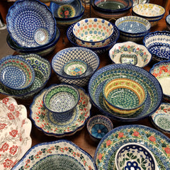 Bowls in a variety of sizes, shapes and patterns