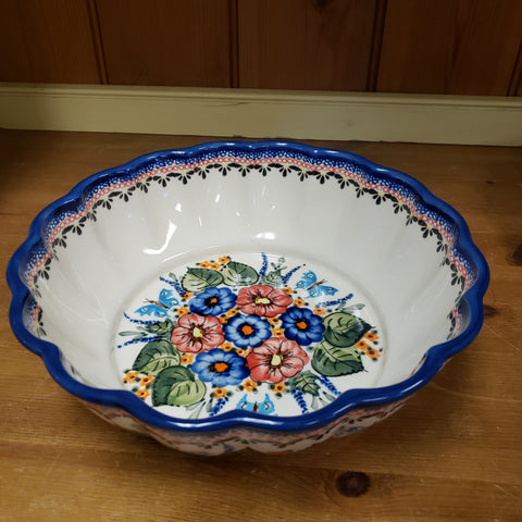 Bowl ~ Fluted Z1279 ART149 Butterfly Garden