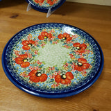 "Plate ~ Luncheon 9.5"" Z1001-ART296 Red Poppies"