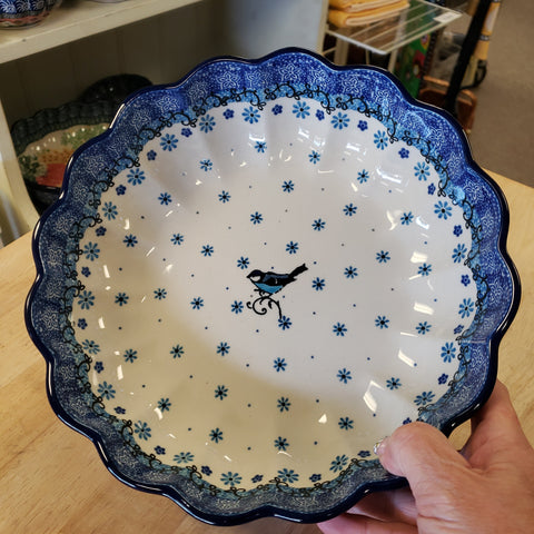 "Bowl Scalloped 975-2529X / 9.5"" 2529X ~ Bluebird"
