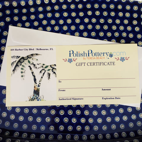 Gift Certificates to be MAILED