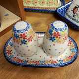 Salt & Pepper W/Tray (CA131) 2321 Floral Confetti