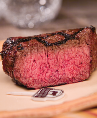 USDA Approved Beef at Medium Rare Doneness Level
