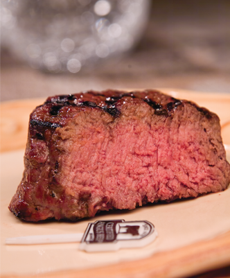 USDA Approved Beef at Medium Well Doneness Level