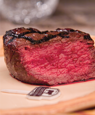 USDA Approved Beef at Rare Doneness Level